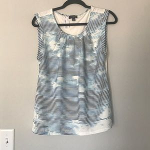 NWT blue stripe sleeveless top from The Limited